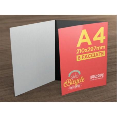 Pieghevole A4 - piega Portafoglio - 3 Ante 6 Facciate
