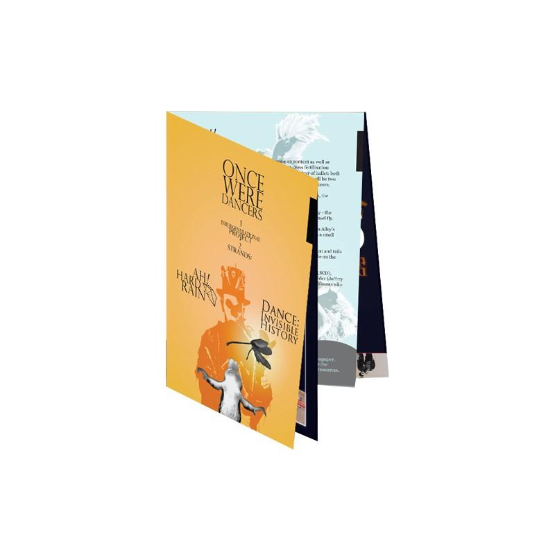 52150134d4470 Pieghevole A5 - 4 Ante   8 Facciate - Piega a Croce - Pieghevoli A5 -  StampaFast