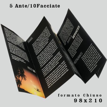Pieghevole 98x210 5 Ante- 10 Facciate - Piega a Fisarmonica