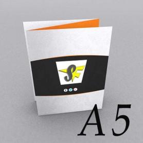 Pieghevole A5 - 3 Ante / 6 Facciate - Piega Fisarmonica