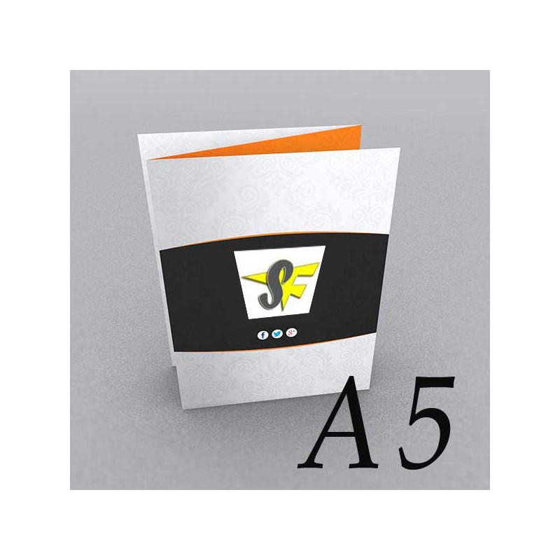 9958a3bc6413b Pieghevole A5 - 3 Ante   6 Facciate - Piega Fisarmonica - Pieghevoli A5 -  StampaFast