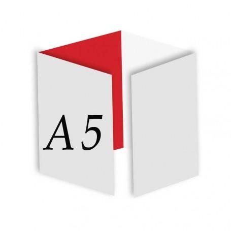 aa884aa037403 Pieghevole A5 - 4 Ante   8 Facciate - Piega su Piega - Pieghevoli A5 -  StampaFast