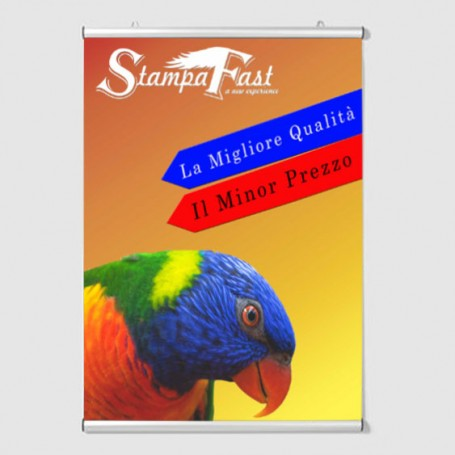Poster in Tessuto con Profili in Alluminio