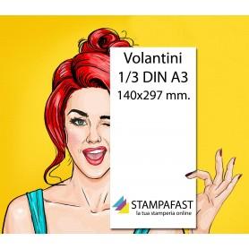 Volantini 1/3 Din A3 (140x297 mm)