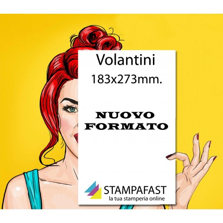 Volantini 183x273 mm.