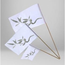 Bandiera con Asta in legno
