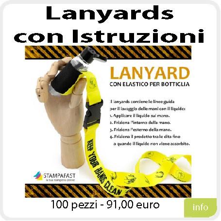 Lanyards con Istruzioni lavamani