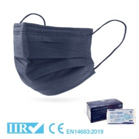 Mascherina Chirurgica Tipo IIR Blu navy