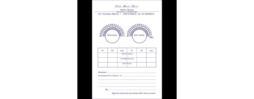ricettari personalizzati, buste cliniche, blocchetti appuntamenti