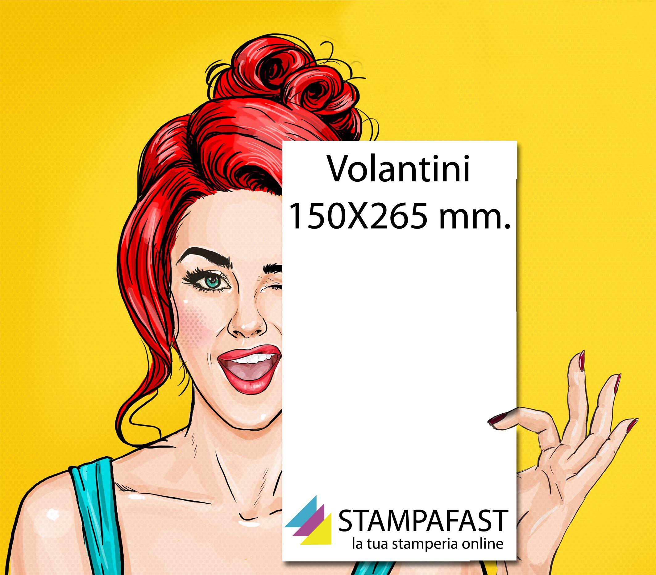 Volantini 150x265