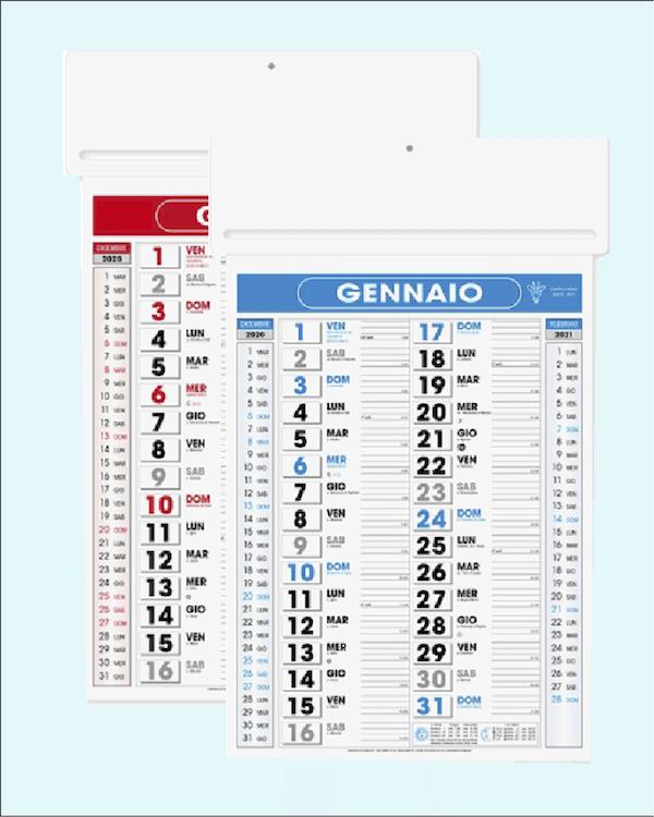 Calendario Passafoglio