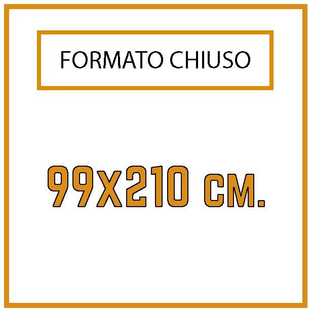 Formato 9,9 x21 cm.