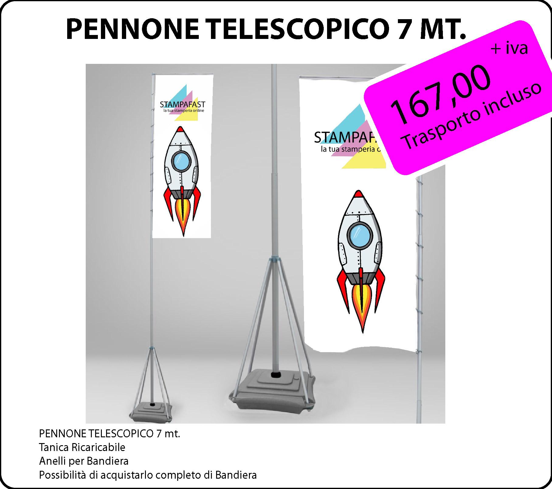 Pennone Telescopico