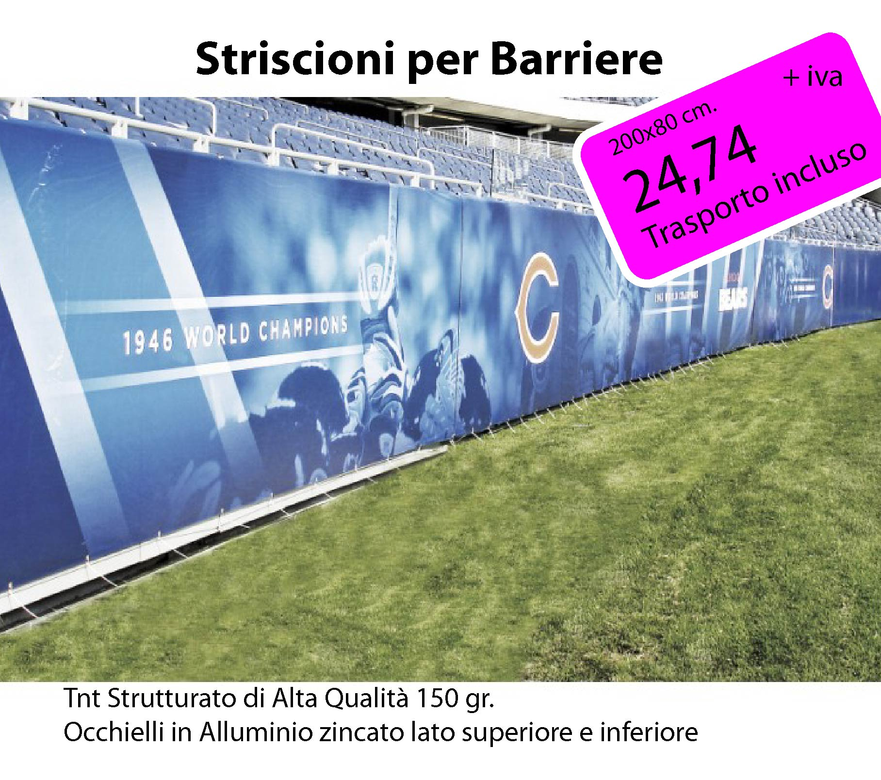 Striscioni per Barriere