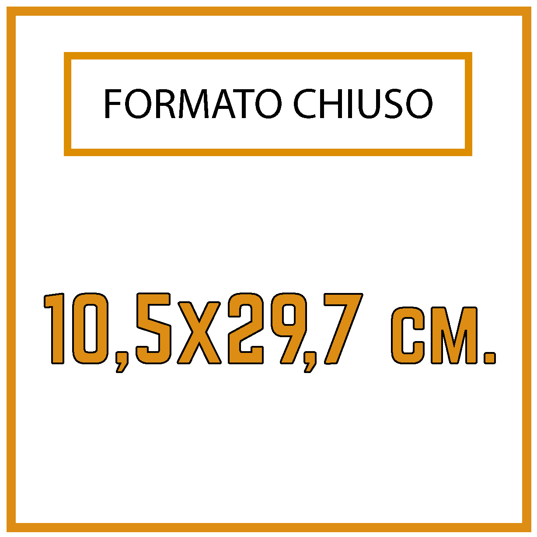 Formato 10,5 x 29,7 cm.