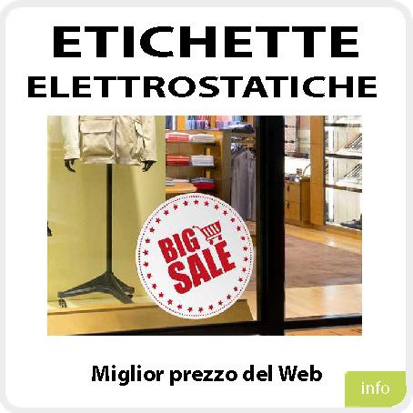 Etichette Elettrostatiche