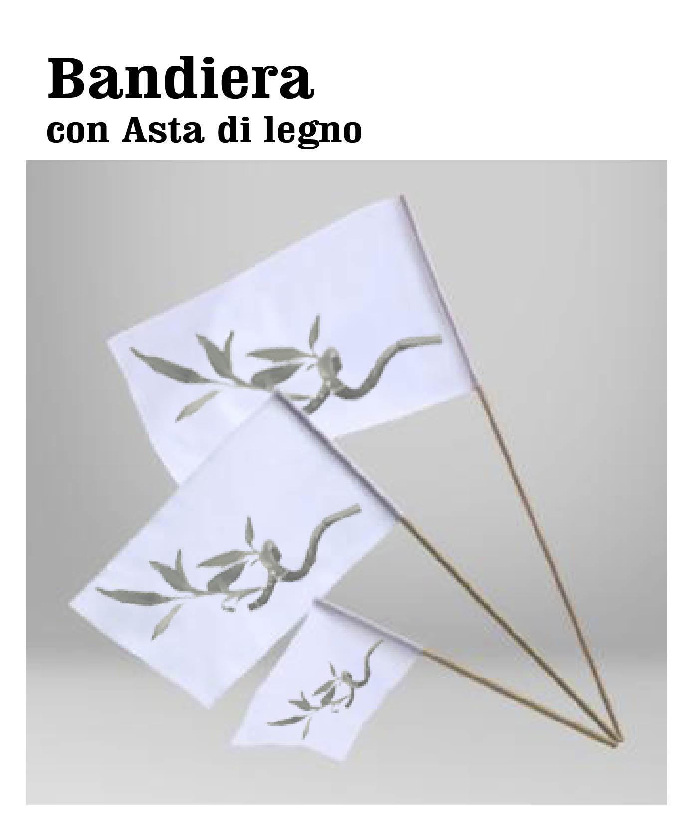 BANDIERE CON ASTA DI LEGNO