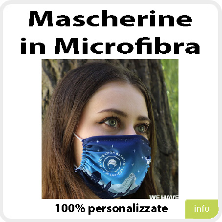Mascherina in microfibra
