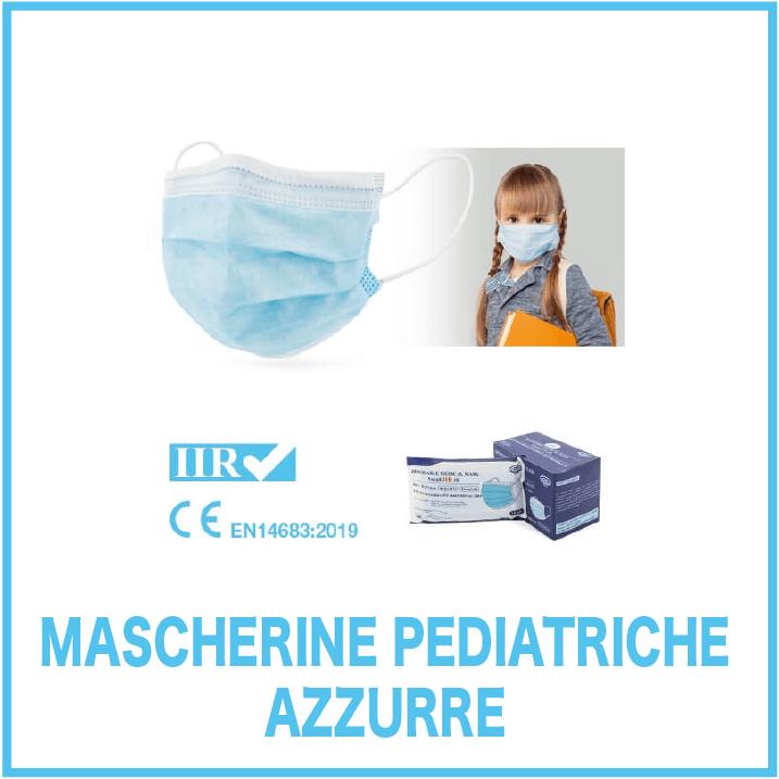 Mascherine Pediatriche Azzurre