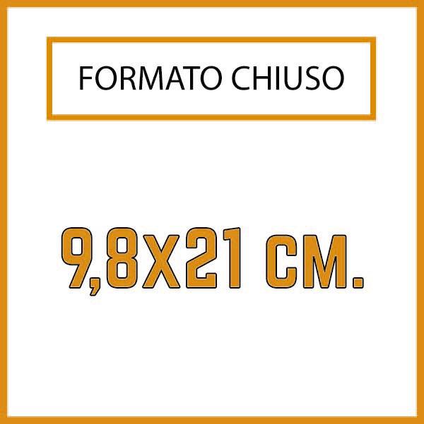 Formato 9,8 x21 cm.