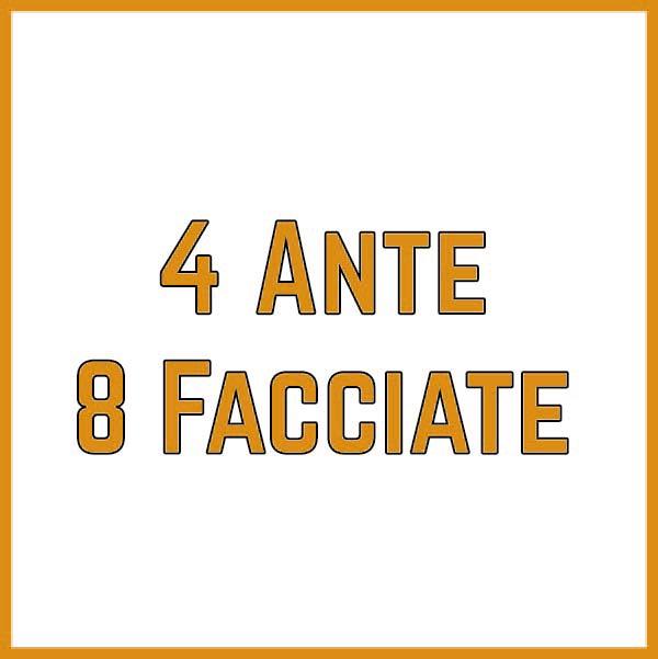4 ante 8 facciate
